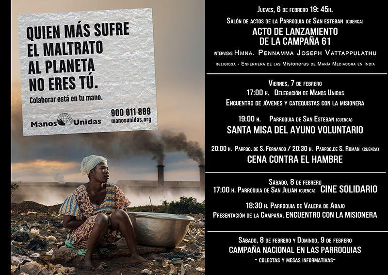 'QUIEN MÁS SUFRE EL MALTRATO AL PLANETA NO ERES TÚ', la nueva campaña de Manos Unidas para 2020