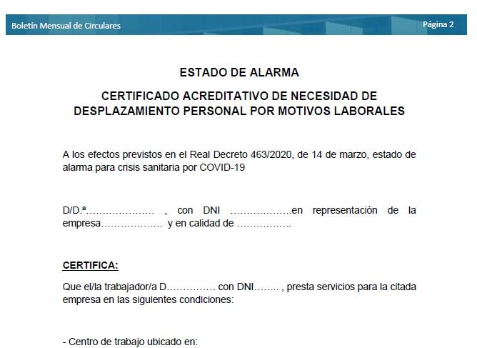 CEOE-Cepyme Cuenca prepara un modelo para acreditar el desplazamiento al puesto de trabajo