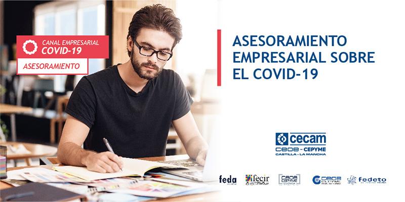 CECAM crea una web específica sobre el coronavirus para informar y ayudar a los empresarios de la región