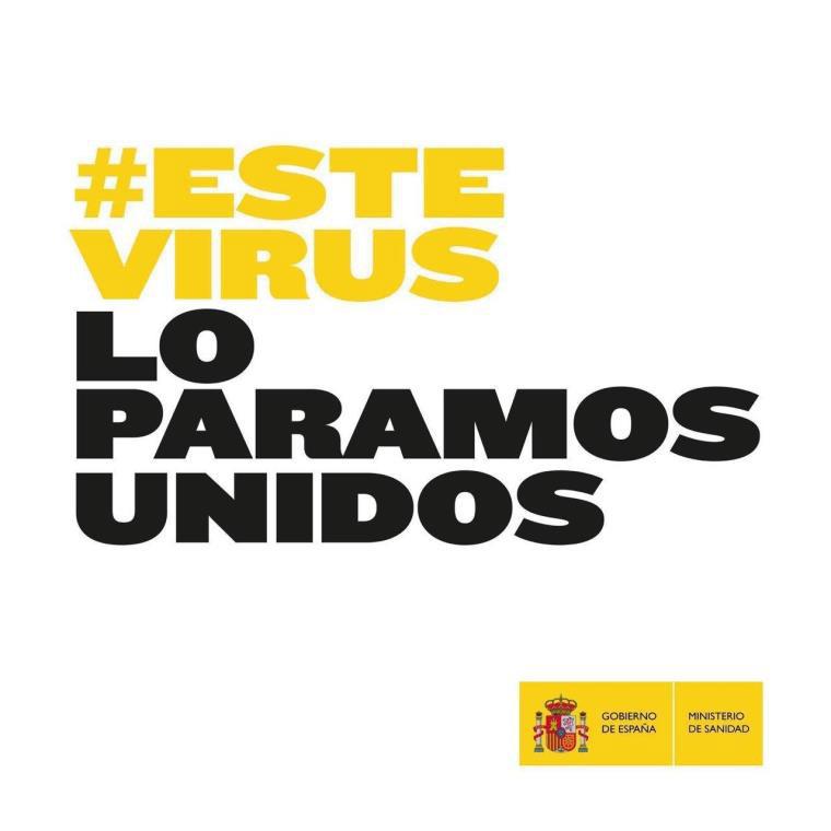 El Gobierno de España lanza la campaña #EsteVirusLoParamosUnidos para aunar el esfuerzo de todo el país en la lucha contra el coronavirus