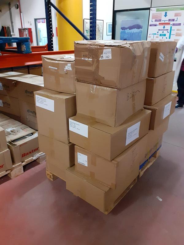La Junta ha distribuido hoy más de 12.700 artículos de protección para centros sanitarios y sociosanitarios del área de Salud de Cuenca