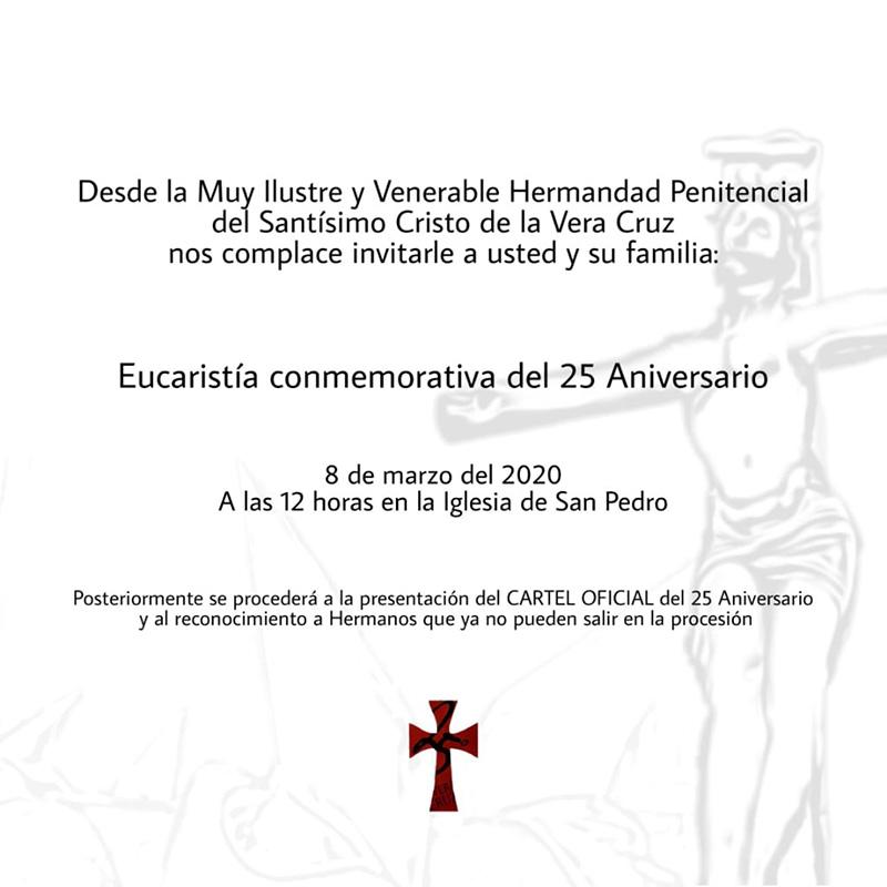 La M. I. V. H. P. de la Vera Cruz celebra este domingo la Eucaristía conmemorativa del 25º Aniversario de su fundación