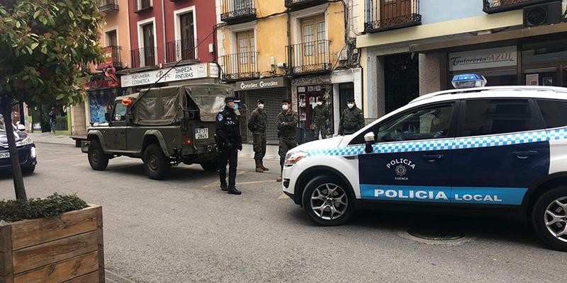 La Policía Local de Cuenca ha efectuado una detención, 17 denuncias y 107 identificaciones desde que se iniciase el estado de alarma