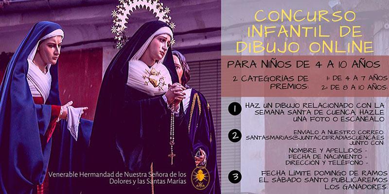 La V. H. de Ntra. Sra. de los Dolores y las Santas Marías convoca un Concurso de Dibujo digital para los más pequeños
