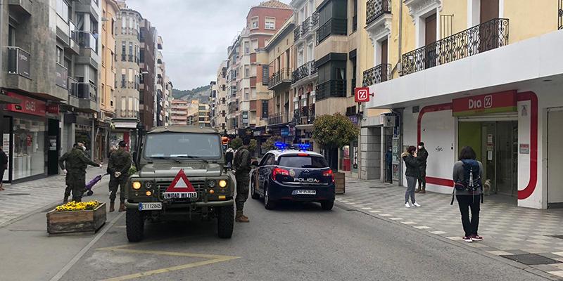 Llegan a Cuenca 40 efectivos de la Brigada Paracaidista de Artillería de Madrid para ayudar en las tareas de control de tránsito de personas