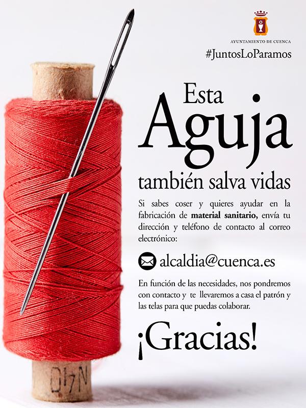 Más de 230 costureras de Cuenca se han ofrecido voluntarias para confeccionar batas para el hospital