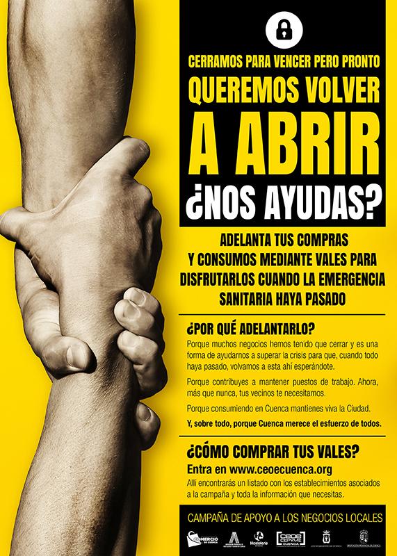 CEOE-Cepyme Cuenca anima a los establecimientos de la provincia a sumarse a la campaña para comprar vales