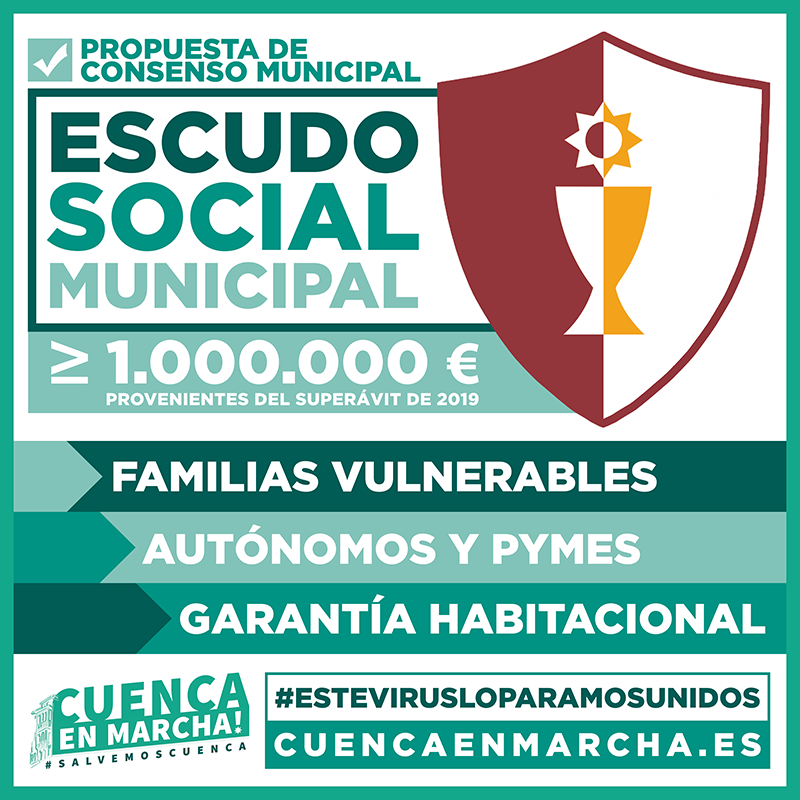 """Cuenca en Marcha! busca el acuerdo de todos los grupos para destinar 1 millón de euros a un """"Escudo Social Municipal"""""""
