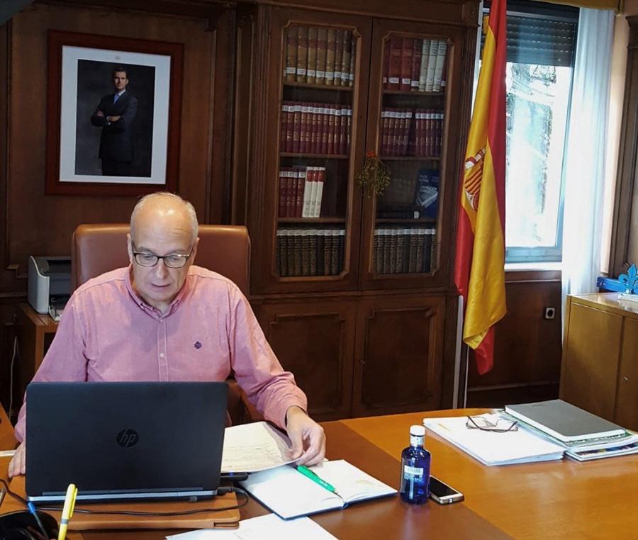 El subdelegado del Gobierno en Cuenca preside la reunión del Centro de Coordinación Provincial frente al COVID-19