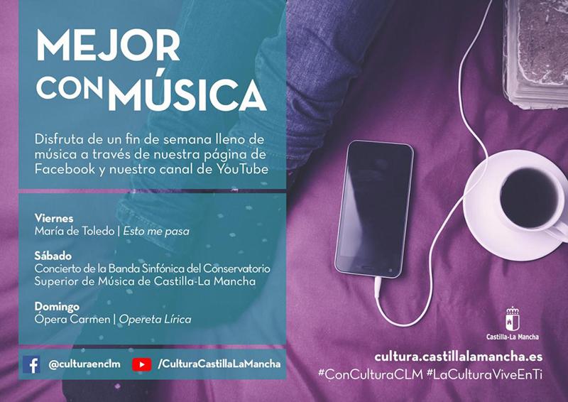 Este fin de semana tienes 84 actuaciones online de artistas de Castilla-La Mancha