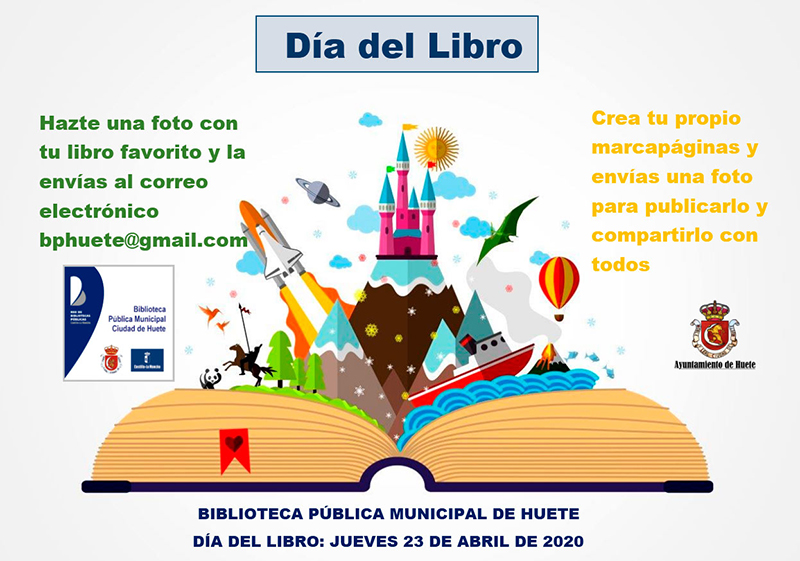 La Biblioteca Municipal de Huete te invita a celebrar el Día del Libro desde casa