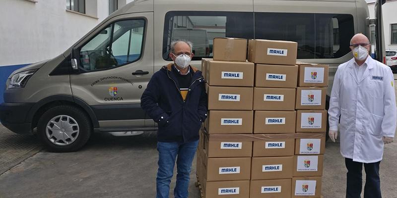 La Diputación de Cuenca reparte 3.200 viseras a los hospitales de Cuenca, Albacete y Villarrobledo gracias a Mahle