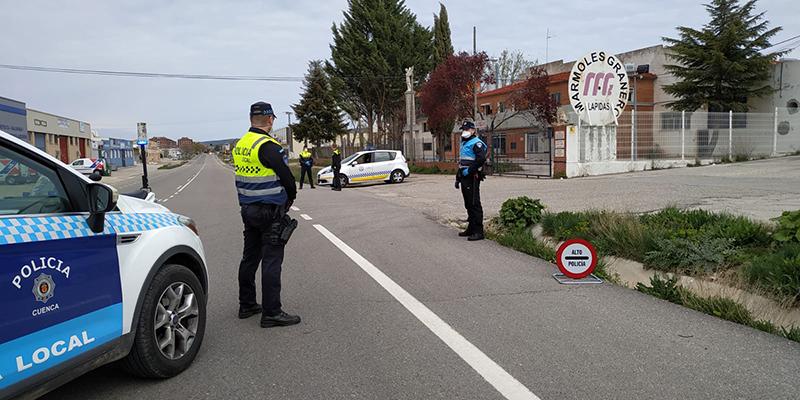 La Policía Local de Cuenca ha efectuado 2 detenciones, 57 denuncias y 286 identificaciones desde el 15 de marzo