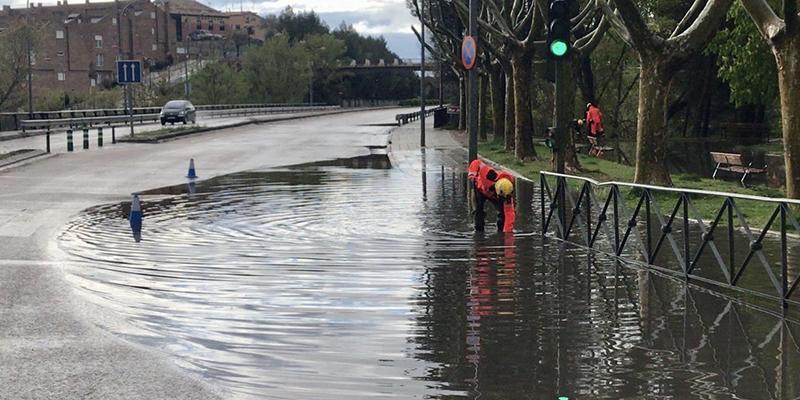 Los bomberos de Cuenca realizan tres intervenciones a causa de la tormenta