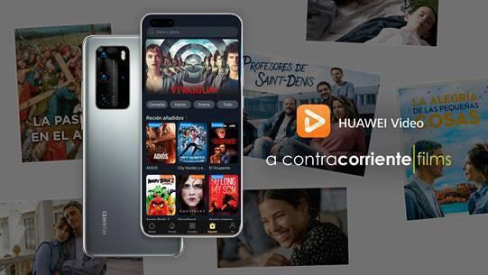 Los usuarios de Huawei Video podrán disfrutar de estrenos de cine sin salir de casa