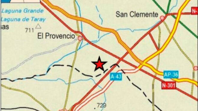 Registrado un terremoto en El Provencio de magnitud 3,1 en la Escala de Richter