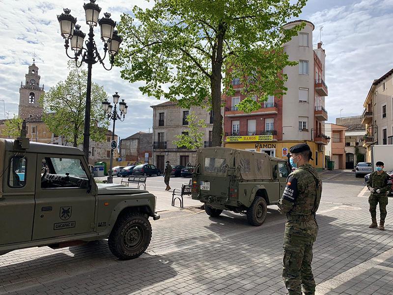 Tarancón recibe este sábado a militares de la Brigada Paracaidista para tareas de vigilancia y control