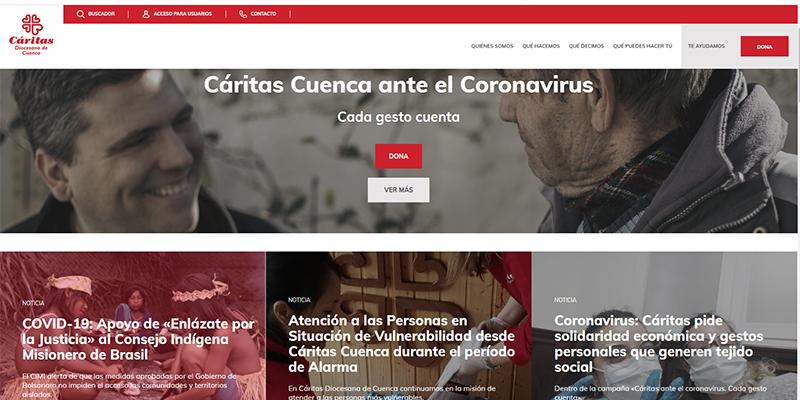 Cáritas Diocesana Cuenca renueva su página web
