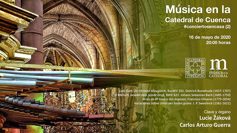 Continúa la actividad cultural de la Catedral de Cuenca 'a puerta cerrada'