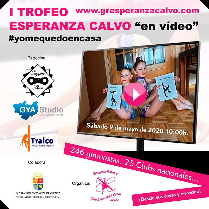 El Club Esperanza Calvo de Cuenca moviliza a 246 gimnastas de toda España para participar en su trofeo desde casa