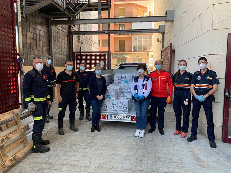 La Junta entrega al Ayuntamiento de Cuenca más de 550 litros de productos desinfectantes para residencias, edificios públicos o farmacias