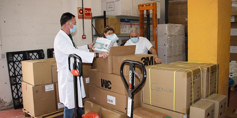 La Junta ha enviado otros 5.200 test rápidos para el área de Salud de Cuenca y más de 22.000 artículos de protección