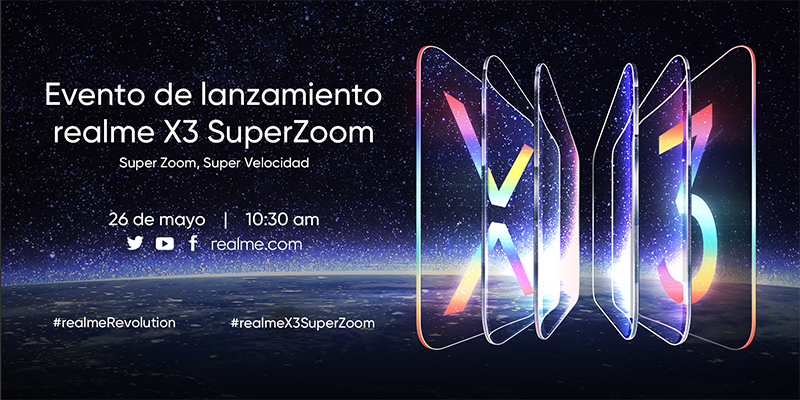 Realme anuncia su primer lanzamiento global en Europa para presentar el realme X3 SuperZoom