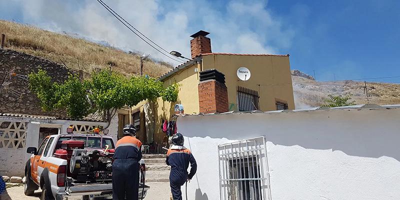 Susto por un pequeño incendio en la ladera del Cerro del Castillo de Huete