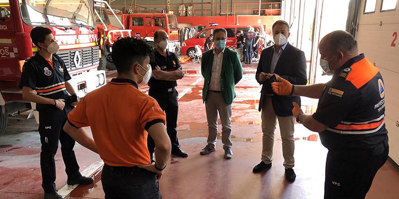 """Dolz agradece el """"admirable"""" trabajo de la Agrupación de Voluntarios de Protección Civil durante el estado de alarma"""
