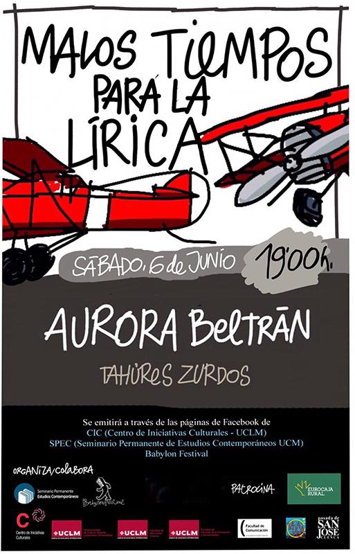 """El ciclo """"Malos tiempos para la Lírica"""" concluye este sábado su edición """"virtual"""" con una entrevista a Aurora Beltrán"""
