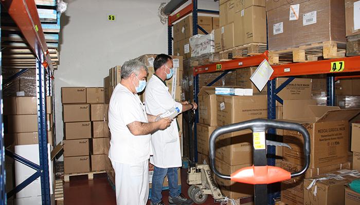 El Gobierno regional ha distribuido más de 35.000 artículos de protección y otros 2.000 test rápidos para el área de Salud de Cuenca