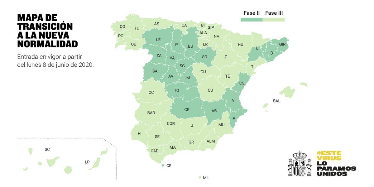 Guadalajara y Cuenca pasan a fase 3 de desescalada a partir del próximo lunes