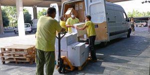 La Junta ha distribuido esta semana otro medio millón de artículos de protección para los profesionales sanitarios