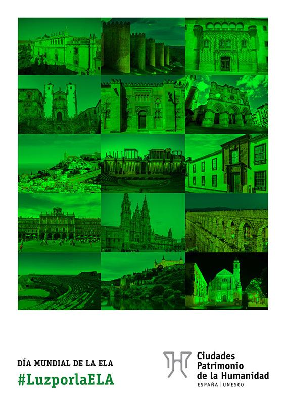 Las Casas Colgadas se iluminarán de verde este domingo por el Día Mundial de la ELA