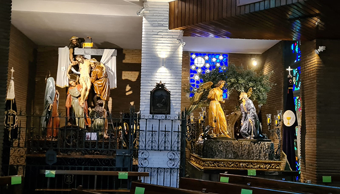 Los pasos de Semana Santa de la iglesia de San Esteban de Cuenca vuelven su lugar de culto