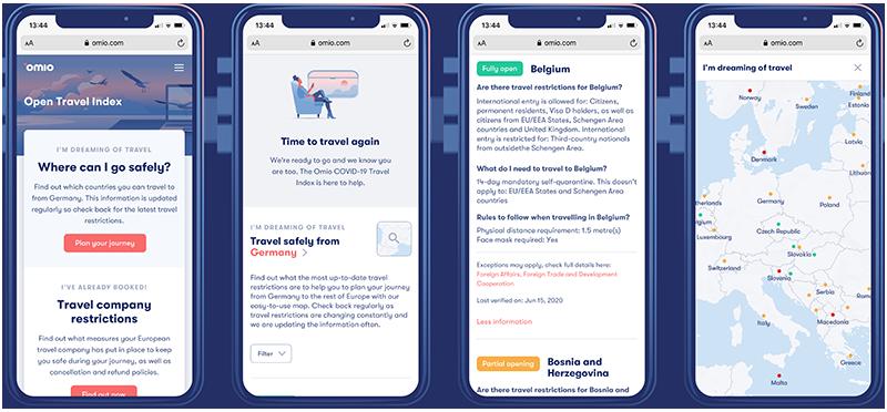 Omio lanza el Open travel index para ayudarnos a viajar en la nueva era