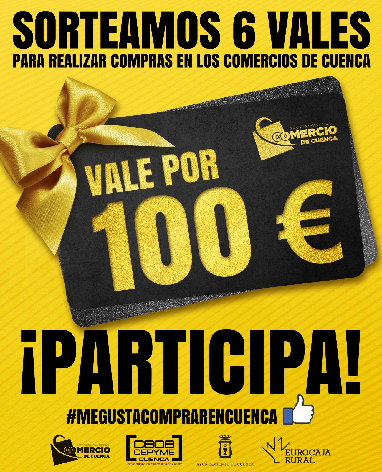 Todavía se puede participar en la iniciativa de la Asociación de Comercio de Cuenca que sortea 6 vales de 100 euros en compras