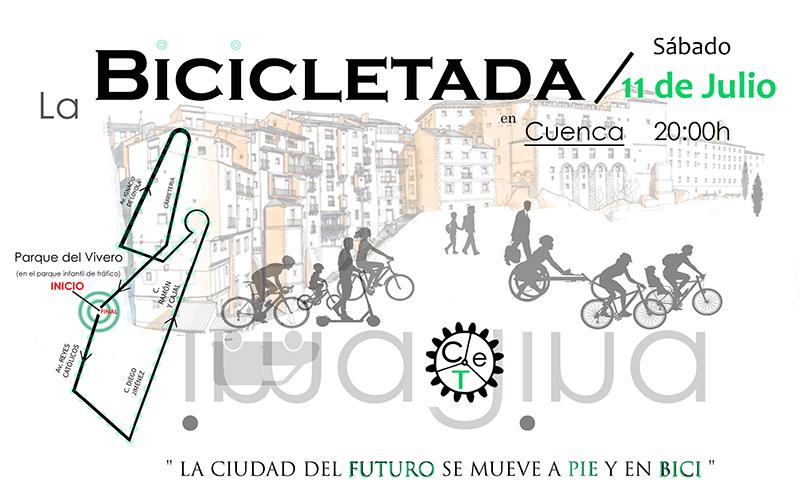 Amigos de los ríos de Cuenca convoca una bicicletada el próximo sábado a las 20 horas desde el parque del Vivero