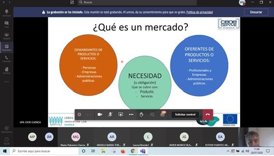 CEOE-Cepyme Cuenca imparte distintos talleres de forma telemática para estudiar los negocios de UFIL
