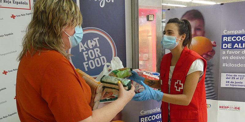 Cruz Roja Cuenca distribuye en la provincia cerca de 5.000 kilos de alimentos a favor de más de 150 familias en dificultad social