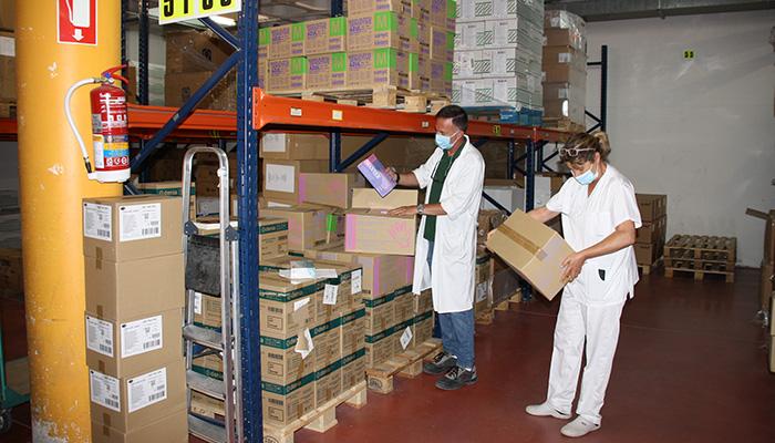 El área de Salud de Cuenca ha recibido del Gobierno de Castilla-La Mancha una nueva partida con más de 119.000 artículos de protección
