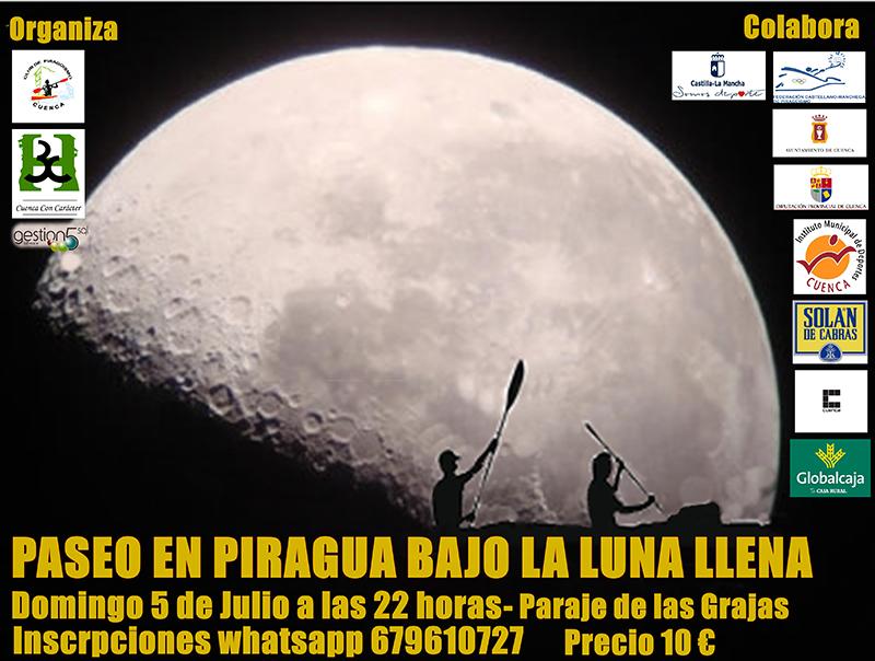 El Club Piragüismo Cuenca con Carácter inicia sus Travesías en Luna Llena
