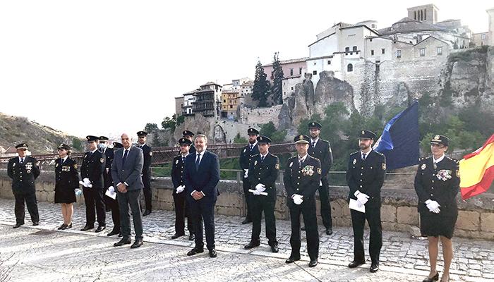 El exterior del Parador de Turismo de Cuenca, acoge la Jura de 9 policías nacionales de nuevo ingreso