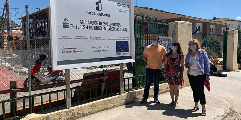 El Gobierno regional continúa las obras de ampliación del IES 4 de junio de la localidad de Cañete