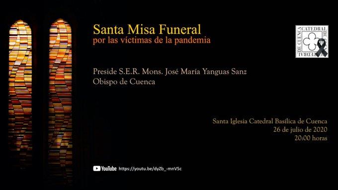 La Catedral de Cuenca acogerá la misa por las víctimas de la pandemia el próximo 26 de julio