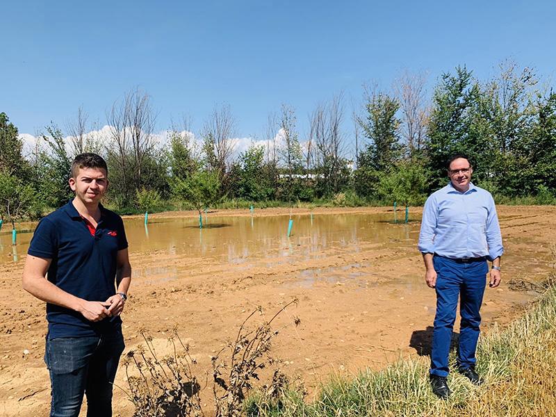 Prieto reclama en su visita a La Manchuela que no se excluya de nuevo a Cuenca de las ayudas por los daños de las tormentas