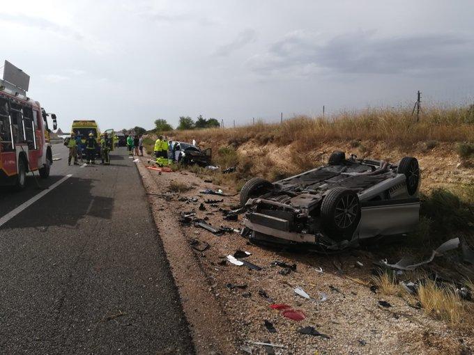 Un fallecido y seis personas heridas en un accidente múltiple en la A3 en Tébar