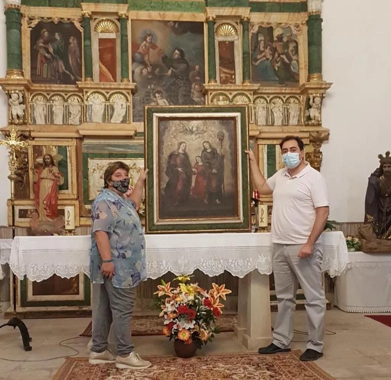 Entrega del cuadro restaurado de Valdemoro del Rey