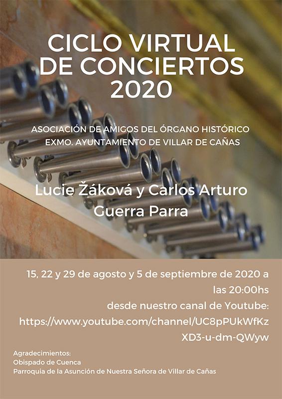 El órgano histórico de Villar de Cañas podrá disfrutarse online en un ciclo de cuatro conciertos desde su cuenta de youtube