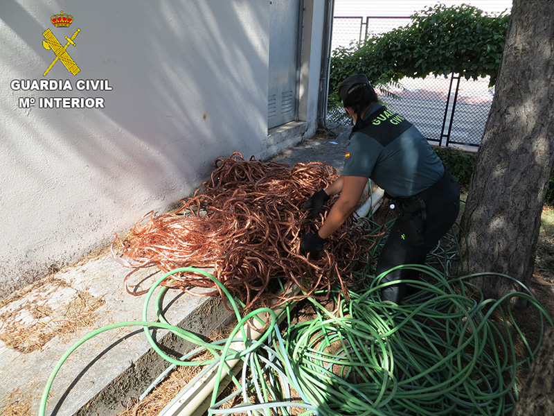La Guardia Civil detiene a dos personas por robo de cable de cobre en un polígono industrial de Cuenca